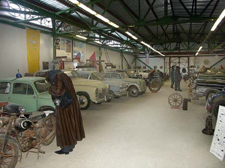 New hall Lomakov`s museum oldtimer cars and motorcycles